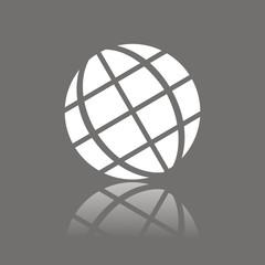 Icono globo tierra FO reflejo