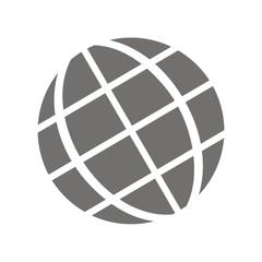 Icono globo tierra FB