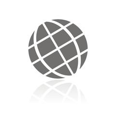 Icono globo tierra FB reflejo