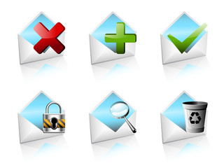 Open mail icons