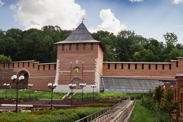 Restored tower of Nizhny Novgorod Kremlin. Russia