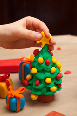 Plasticine Christmas tree