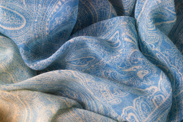 cyan fabric texture background