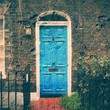 London retro door. Cross processed color tone.