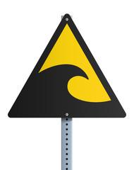 Panneau - Risque de Tsunami