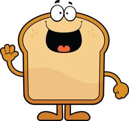 Cartoon Bread Happy