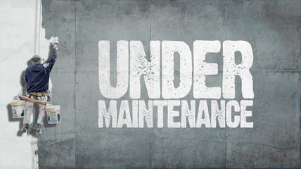 Under maintenance wall