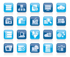 data and analytics icons - vector icon set