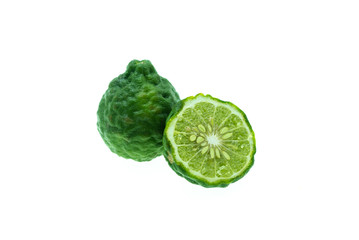 Bergamot green on white background