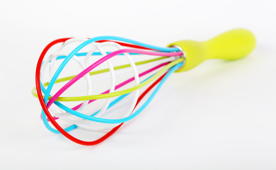 Colorful kitchen whisk
