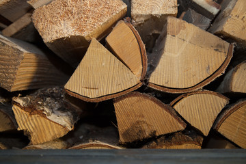 Background created from the chopped firewood logs