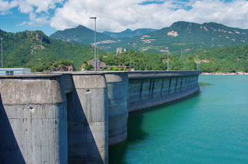 Baells dam in  Bergueda ,  Catalonia, Spain