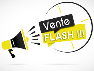 mégaphone : vente flash (jaune & noir)