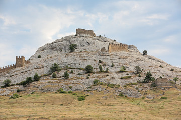 Ruins Genoese fortress, republic Crimea