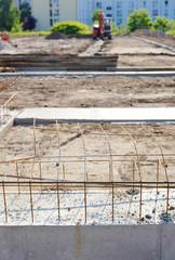 Fundament auf Baustelle