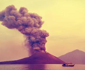 eruption of Anak Krakatau-