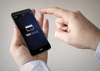 touchscreen pay online smartphone