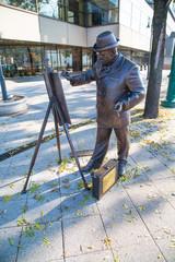 Bronze statue of Roskovics Ignac in Budapest