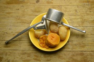 ñoquis de calabaza y patatas Gnocchi di zucca Expo Milàn 2015