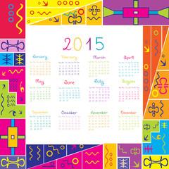 2015 calendar with frame for kids