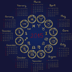 2015 Horoscope calendar