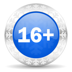 adults blue icon, christmas button