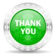 thank you green icon, christmas button