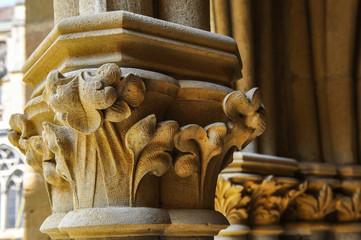 Pilier sculpté