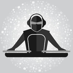 Simple DJ emblem