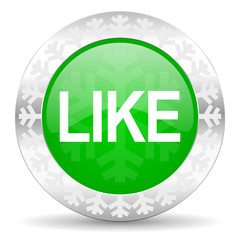 like green icon, christmas button