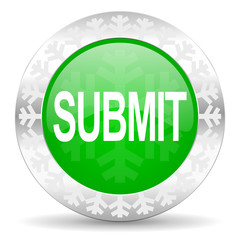 submit green icon, christmas button