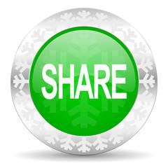 share green icon, christmas button