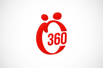 360 abstract people logo