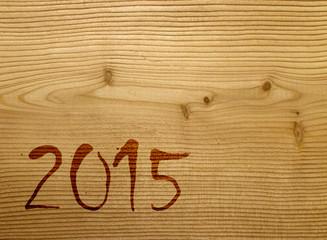 2015 Grußkarte Holz