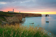 Souter lighthouse on the coast of Tyne and Wear, UK.