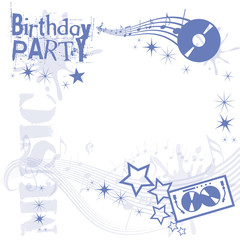Birthday Party in Blue
