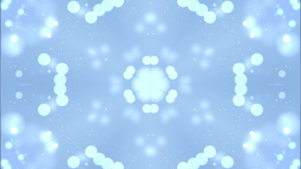 Blue Particle Kaleidoscope