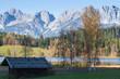 canvas print picture - Schwarzsee bei Kitzbühel