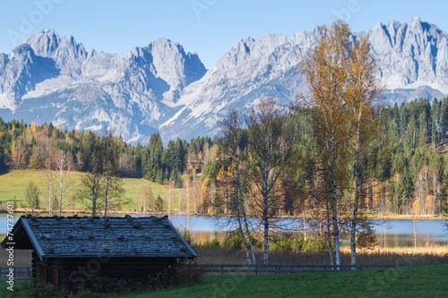 canvas print picture Schwarzsee bei Kitzbühel