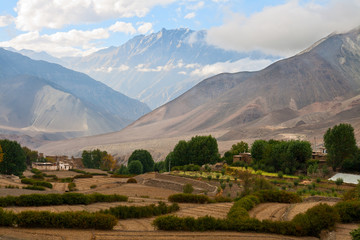 Rural landscape, lower Mustang, Nepal