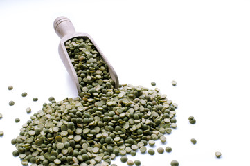 macro view of lentils