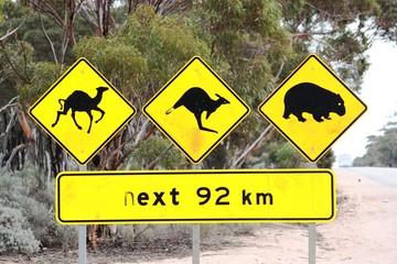 Verkehrsschild - Australien