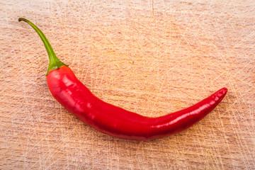 Chili pepper on wood
