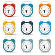 Vector Alarm Clock Set