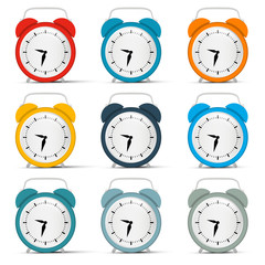 Vector Alarm Clock Set