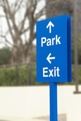 Parking Directions Sign