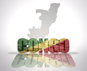 Word Congo on a map background