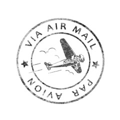 Alter Poststempel Air mail