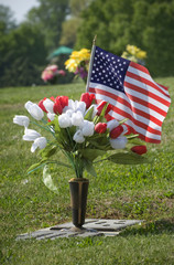 Patriotic Grave Decoration