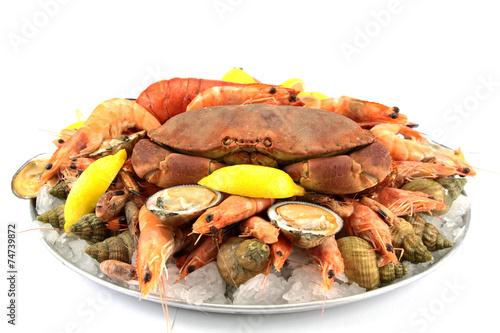 Leinwandbild Motiv plateau de fruits de mer